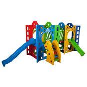Playground Fortaleza Com 2 Escorregador Alpha Brinquedos