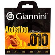 Encordoamento Para Violão Geswam Série Acústico Giannini