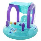 Bóia Infantil Baby Seat Ring Verde Água Em Pvc Laminado Ntk
