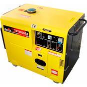 Gerador 4 Tempos 10Hp A Diesel 6000W Bivolt Td7000sge Toyama