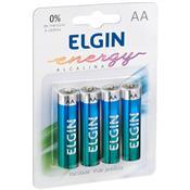 Pilha Alcalina Energy 1.5 V Aa 4 Unidades 82153 Elgin