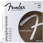 Encordoamento Para Violão Fender 60l Aço 0.12 Bronze Fosforoso