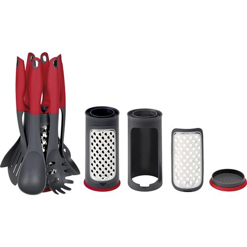 Jogo De Utensílios Para Cozinha Mor Aroma 8658 7 Peças Vermelho