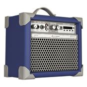 Caixa De Som Amplificada Usb 35w 5 Pol Azul Up5 Ll Áudio