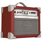 Caixa De Som Amplificada Usb 35w Vermelho Up5 Ll Áudio