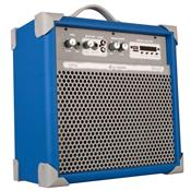 Caixa De Som Amplificada 45w Usb 6 Pol Azul Up6 Ll Áudio