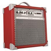 Caixa De Som Amplificada 45w Usb Vermelho Up6 Ll Áudio