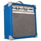 Caixa De Som Amplificada 55w Usb 8 Pol Azul Up8 Ll Áudio