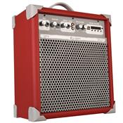 Caixa De Som Amplificada 55w Usb Vermelho Up8 Ll Áudio