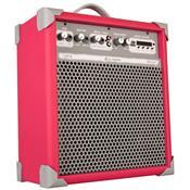 Caixa De Som Amplificada 55w Usb P10 Rca Pink Up8 Ll Áudio