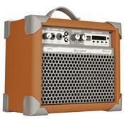 Caixa De Som Amplificada 35w Usb 5 Pol Laranja Up5 Ll Áudio