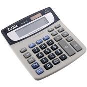 Calculadora De Mesa Elgin MV4123 Solar E Bateria 12 Dígitos Cinza