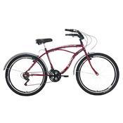 Bicicleta Beach Aro 26 Masculina 21 Marchas Stone Bike Vermelha