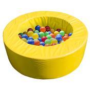 Piscina De Bolinhas Alpha Brinquedos Circular 120cm Amarela