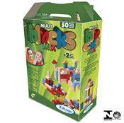Jogo Infantil Multiblocks Colorido Mix 50 Peças 5283.2 Xalingo
