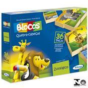 Jogo Blocos Quebra-cabeças Zoológico 36 Peças 5274.3 Xalingo