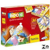 Jogo Blocos Quebra-cabeças Família 36 Peças 5270.9 Xalingo