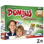 Jogo De Dominó Metades 28 Peças 5249.8 Xalingo