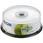Mídia Dvd + Rw 4.7Gb 120 Min 4X Bulk 25 248684 Elgin