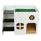 Casinha Cães Pequeno Porte Carlu Pet House Loft Branca C/ Almofada