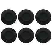 Conjunto Com 6 Pratos Fundos 24cm Coup Black Em14-4924 Oxford