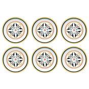 6 Pratos Sobremesa 20cm Daily Floreal Luiza 6750 Oxford