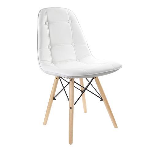 Cadeira Estofada Charles Eames Luxo Botonê Branca Tl-Cdd-01-2 Trevalla