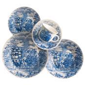 Aparelho De Jantar Chá 30 Peças Cerâmica Oxford
