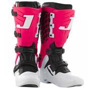 Bota De Motocross Jett Hi-Vis Branco E Rosa Pro Tork