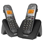 Combo Telefone Sem Fio Ts 5122 Preto + 1 Ramal Intelbras