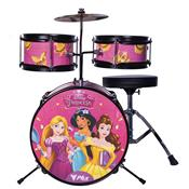 Bateria Infantil Disney Princesas Rosa 3 Peças Bid-P2 PHX