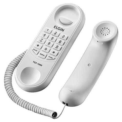 Telefone Com Fio Gôndola Tcf 1000 Branco Elgin