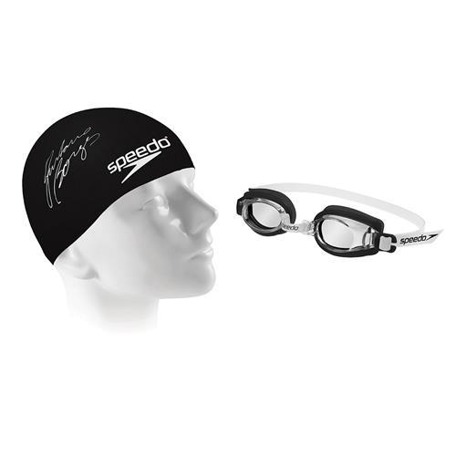 815c3ff1f Kit De Natação Óculos E Touca Jr Swim 2.0 Preto U Speedo na Estrela10