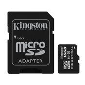 Cartão De Memória Classe 10 16Gb Micro Sd Com Adaptador Sd Kingston