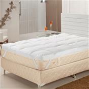 Pillow Top Queen Pluma De Ganso 233 Fios Branco Plumasul
