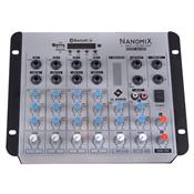 Mesa De Som Nanomix Bluetooth 8.5W 6 Canais NA702RBT LL Áudio