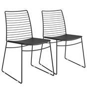 Kit 2 Cadeiras Em Couríssimo Para Sala Preta 1712 Móveis Carraro