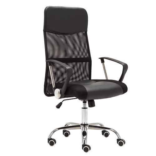 Cadeira Presidente Giratória Tela Mesh Preta Cde-02-1B Trevalla