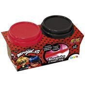 Massinha De Modelar Miraculous 2 Potes Ladybug 81456 Fun