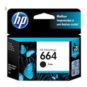 Cartucho De Tinta Hp 664 Preto 2,0 Ml Ink Advantage F6v29ab Hp Suprimentos