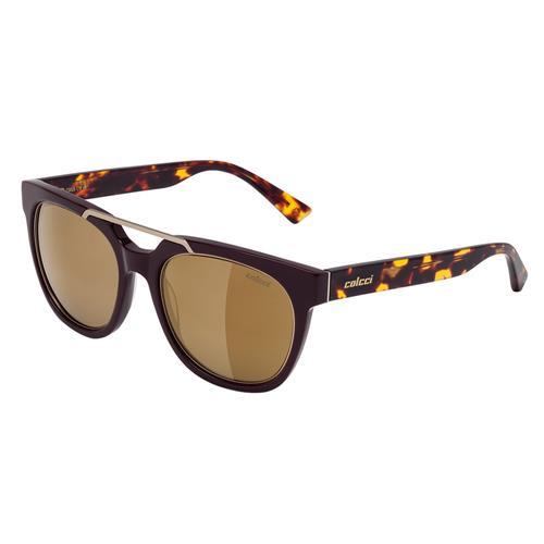 b1303a105 Óculos De Sol Unissex Bordô e Marrom Demi Brilho Colcci na Estrela10