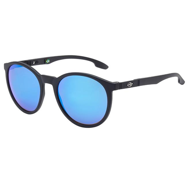 3068d9e41781d Óculos De Sol Maui Preto Com Lente Espelhada Azul Mormaii na Estrela10