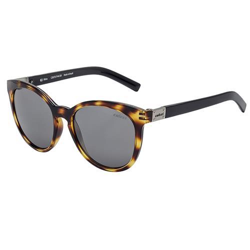 768ebb531 Óculos De Sol Nina Demi Amarelo Brilho E Preto Brilho Lente Cinza  C0070f4409 Colcci
