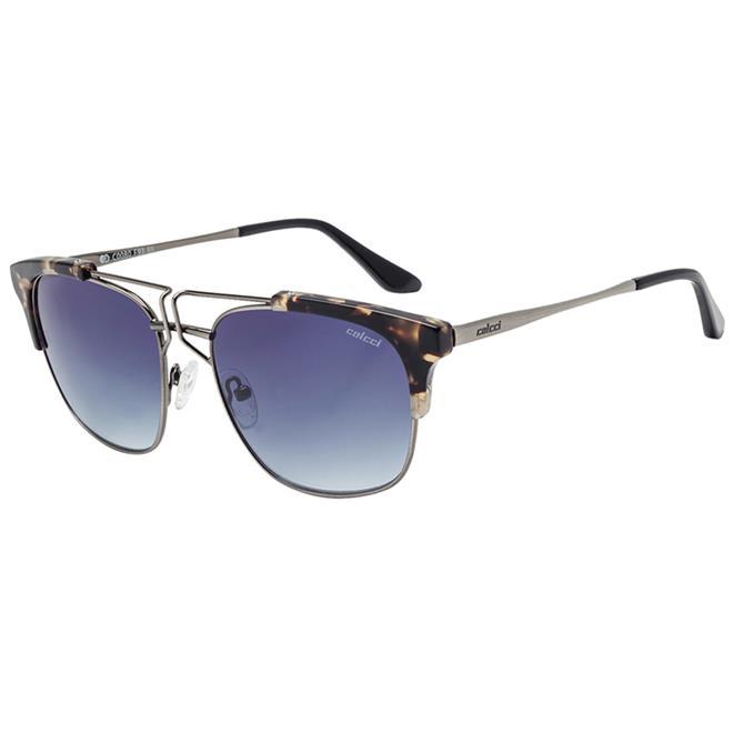 6dfc8598c Óculos De Sol Demi Marrom Prata E Preto Lente Degradê C0080 Colcci. Ampliar