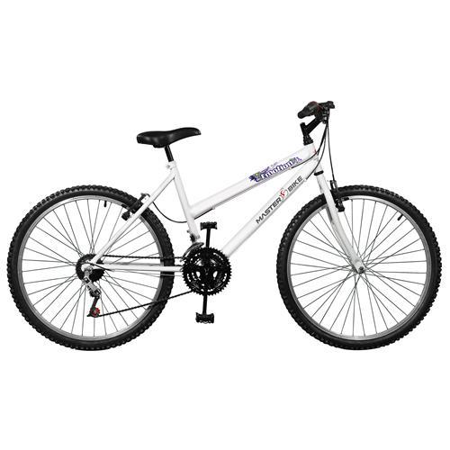 Menor preço em Bicicleta Emotion 18 Marchas Aro 26 Branca Master Bike