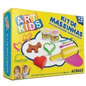 Kit 2 Massinhas Para Modelar + 8 Acessórios Art Kids Acrilex