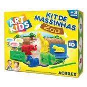 Kit 3 Massinhas Zoológico + 7 Acessórios Art Kids Acrilex