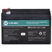 Bateria Selada Vlca 12V 7.2A Bs12-72 Vinik