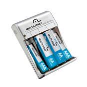 Carregador De Pilhas AA E AAA USB 19V 12 Horas CB093 multilaser