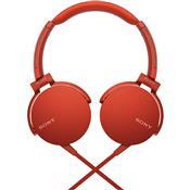 Fone De Ouvido Com Microfone Extra Bass Vermelho Mdr-Xb550ap Sony